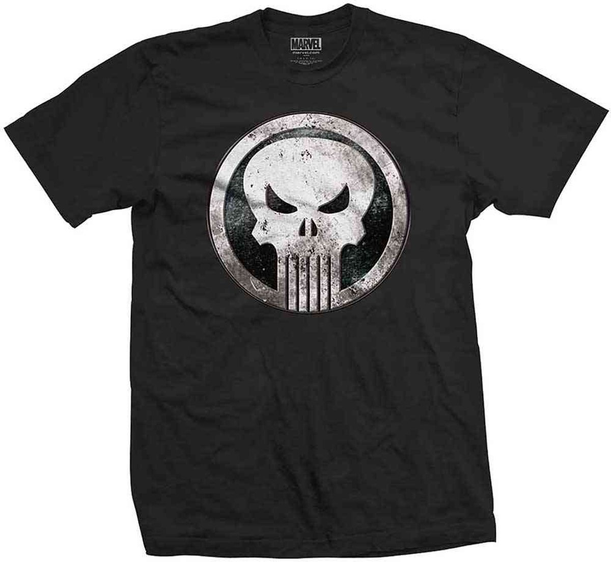 Marvel Comics - Punisher Metal Badge heren unisex T-shirt zwart - S