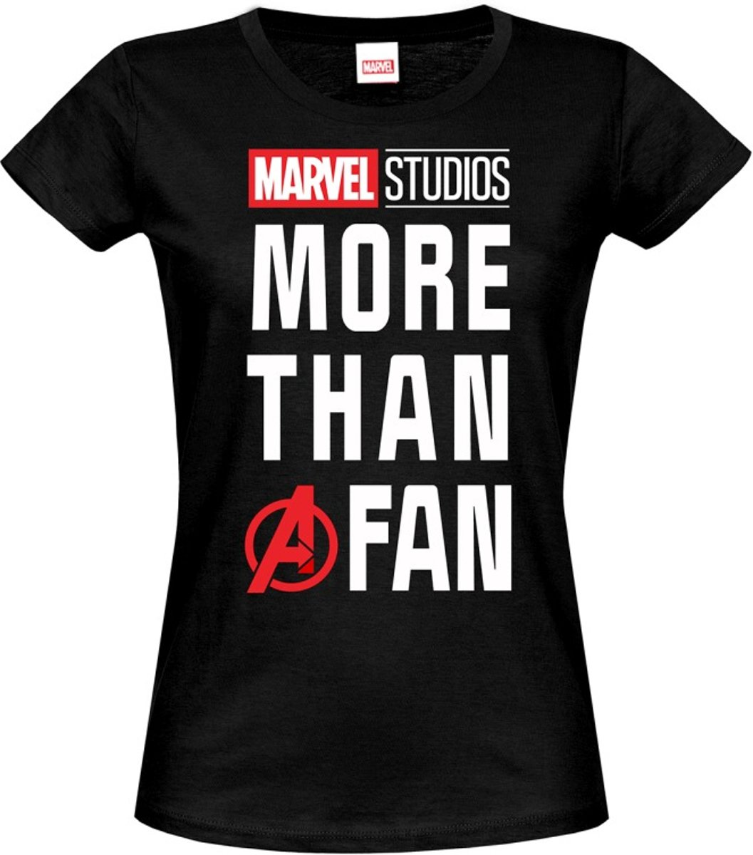 Marvel Dames Tshirt -L- Fan Zwart