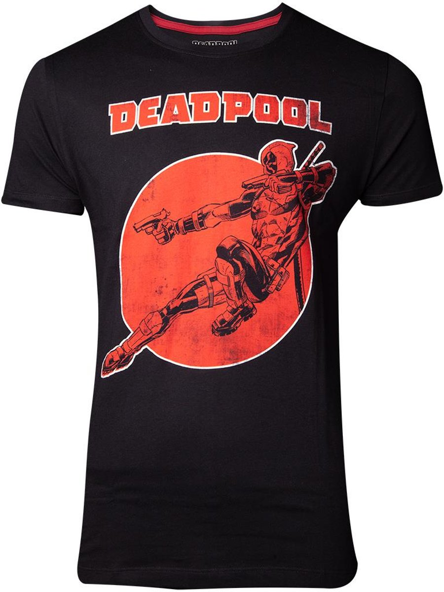 Marvel Deadpool Heren Tshirt -2XL- Vintage Zwart