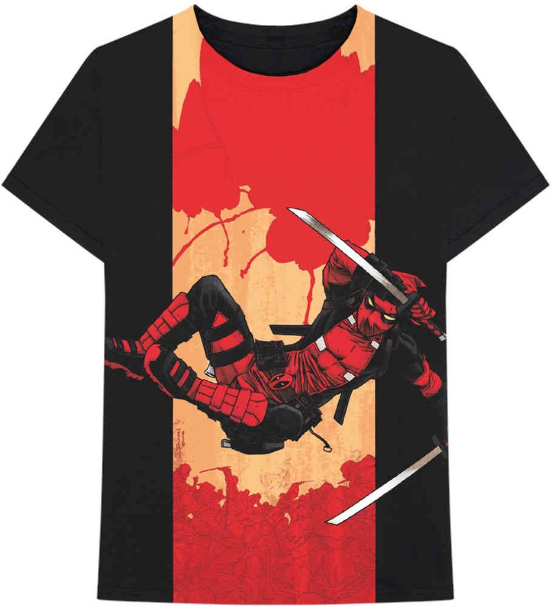 Marvel Deadpool Heren Tshirt -L- Deadpool Samurai Zwart