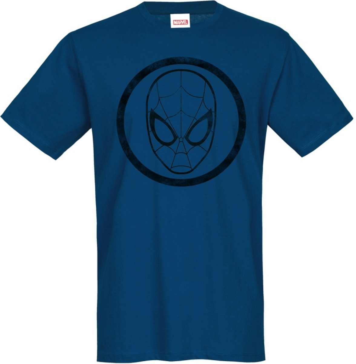 Marvel Spiderman Heren Tshirt -XXL- Symbol Blauw