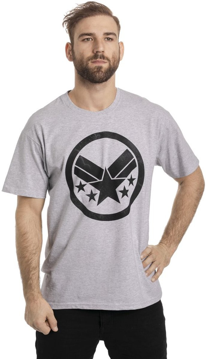 Marvel The Avengers Heren Tshirt -L- War Machine Sign Grijs