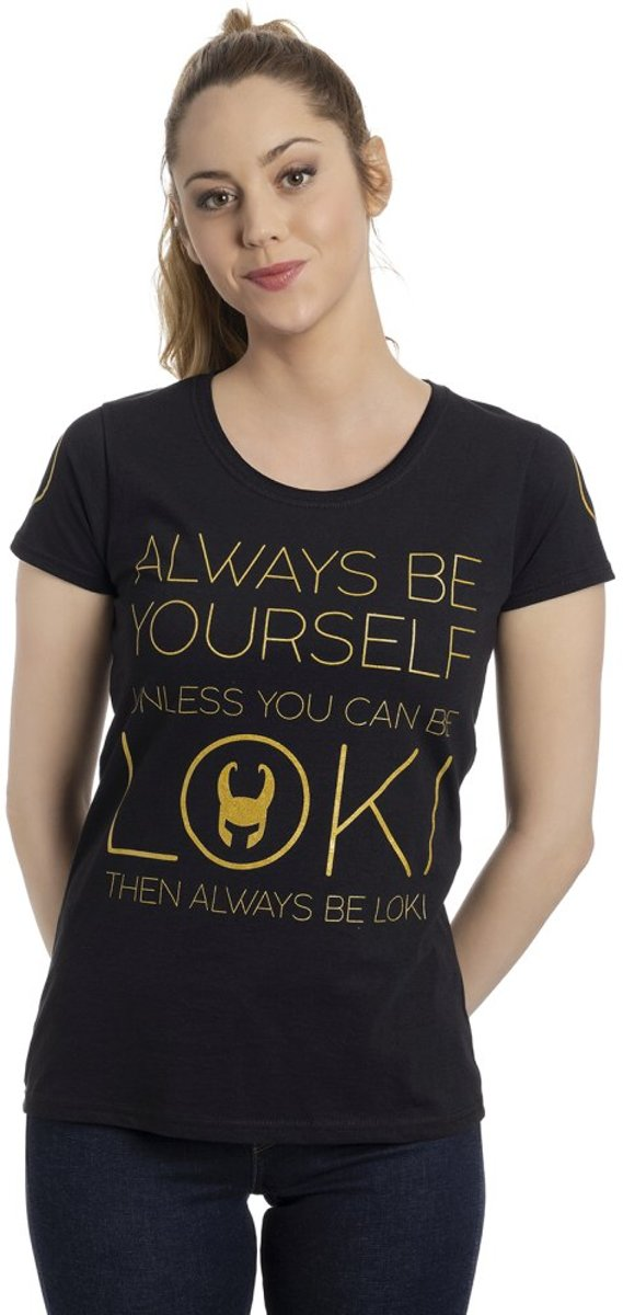 Marvel Thor Dames Tshirt -XXL- Always Gold Zwart
