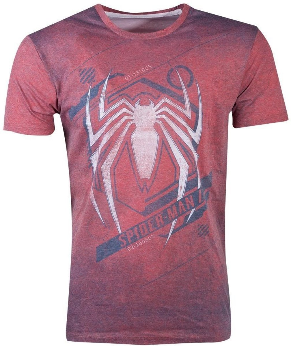 Spiderman - Acid Wash Spider Mens T-shirt - XL MERCHANDISE