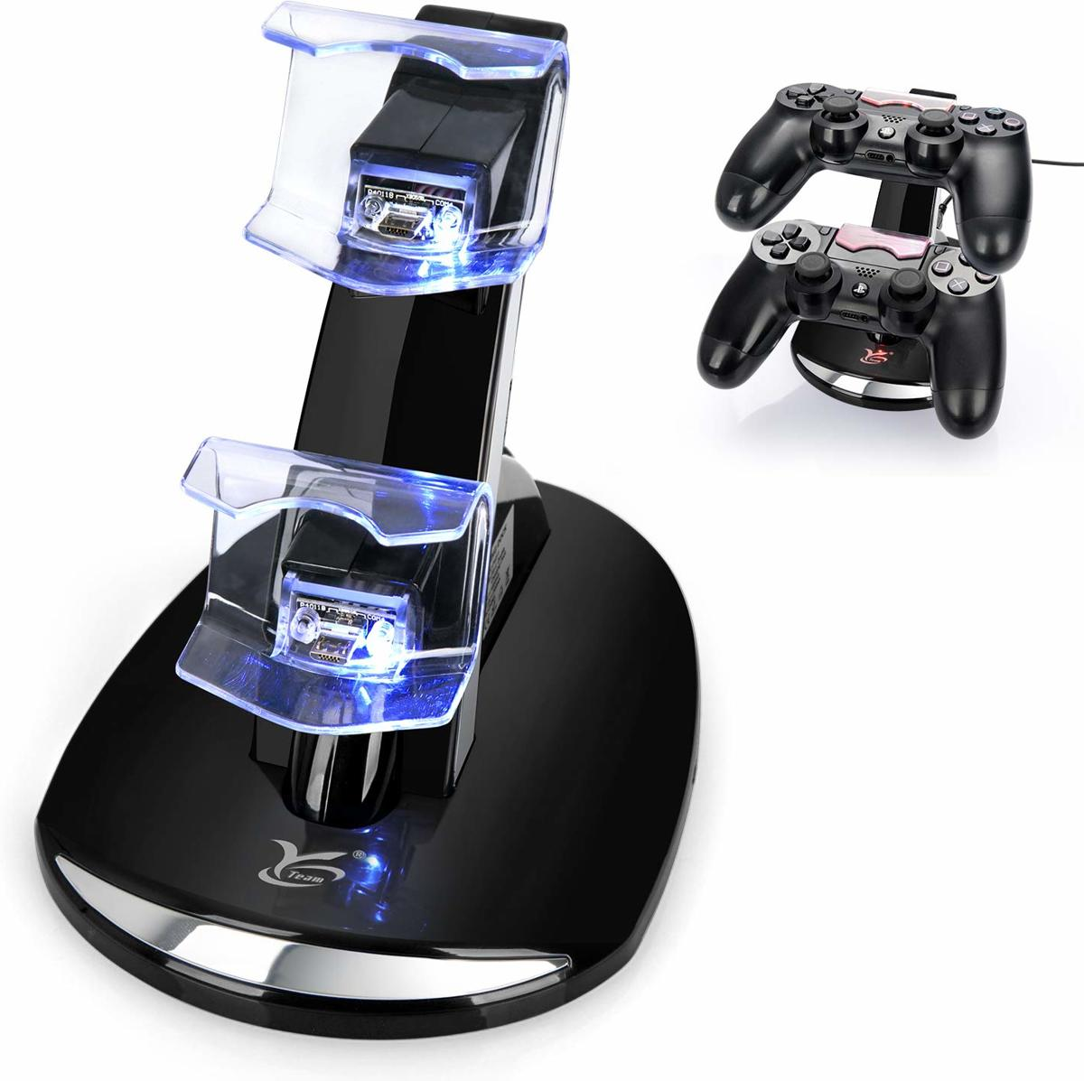 PS4 Dual Charging Docking Station   - USB Oplaadstation PS4 - Controller Oplaadstation - Dock Charger - Laadstation - Dubbel Charging Dock voor Controllers