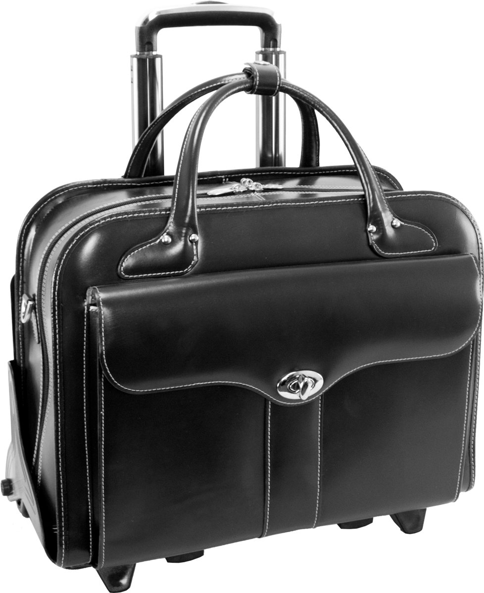 McKlein Laptop Trolley - Zwart - 17 - BERKELEY