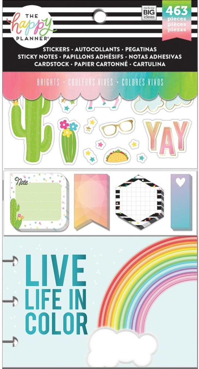 Me and My Big Ideas - Happy Planner Note Cards/Sticky Note Multi Pack - Brights - 463Pieces