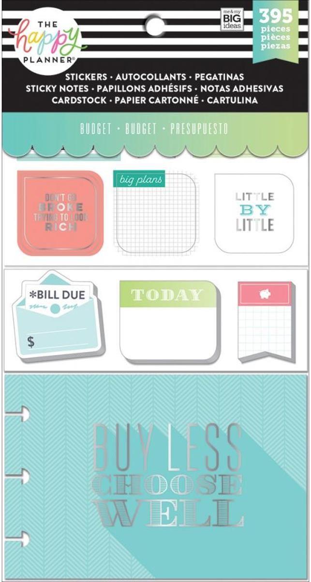 Me and My Big Ideas - Happy Planner Note Cards/Sticky Note Multi Pack - Budget - 395Pieces