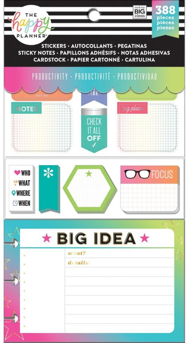 Me and My Big Ideas - Happy Planner Note Cards/Sticky Note Multi Pack - Productivity - 388Pieces