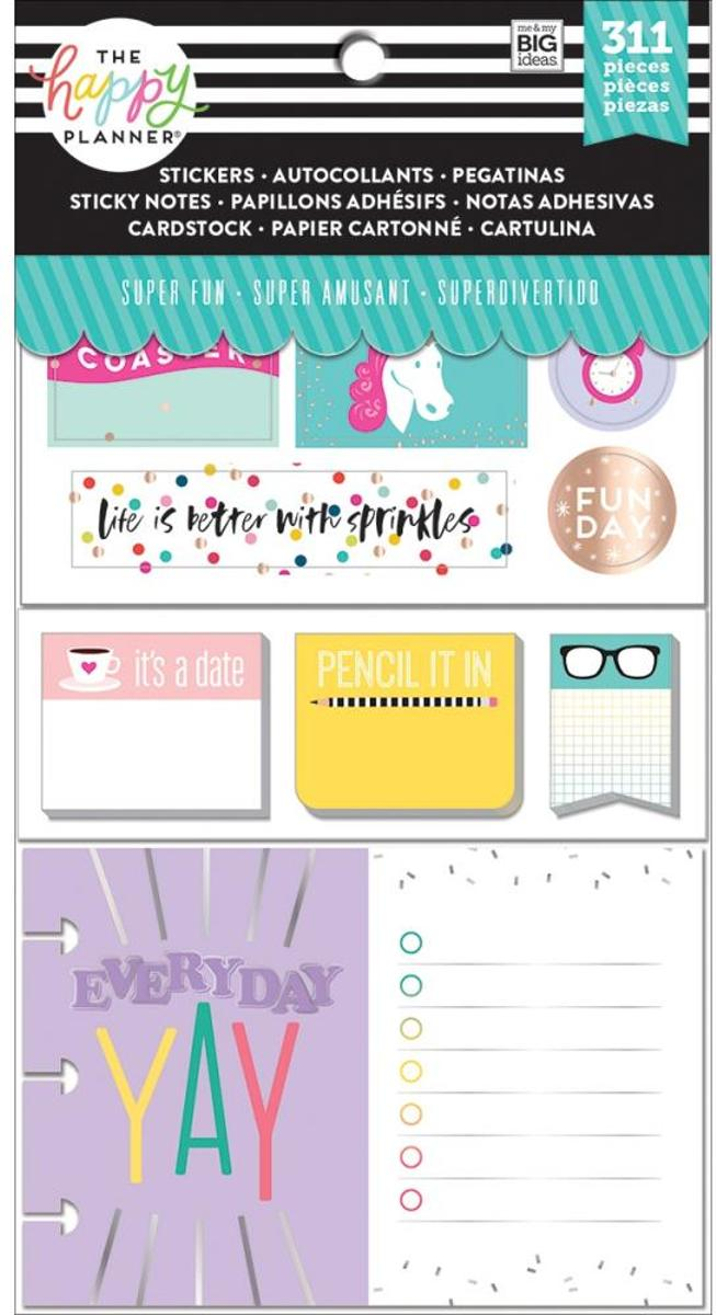 Me and My Big Ideas - Happy Planner Note Cards/Sticky Note Multi Pack - SuperFun - 311Pieces