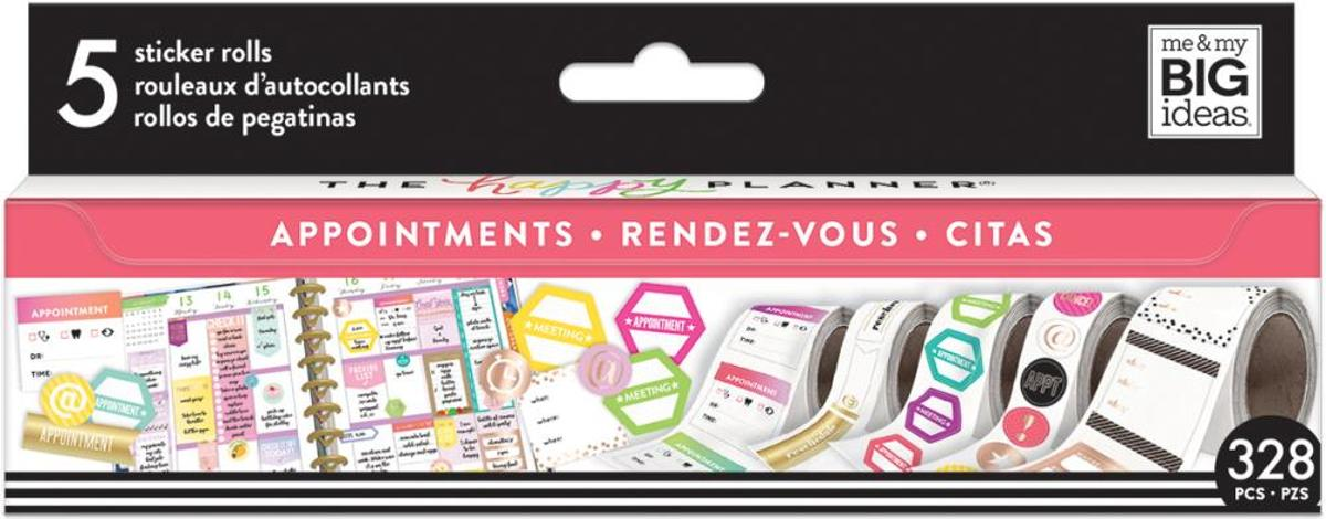 Me and My Big Ideas - Happy Planner Sticker Roll - Appointments - 328 stuks