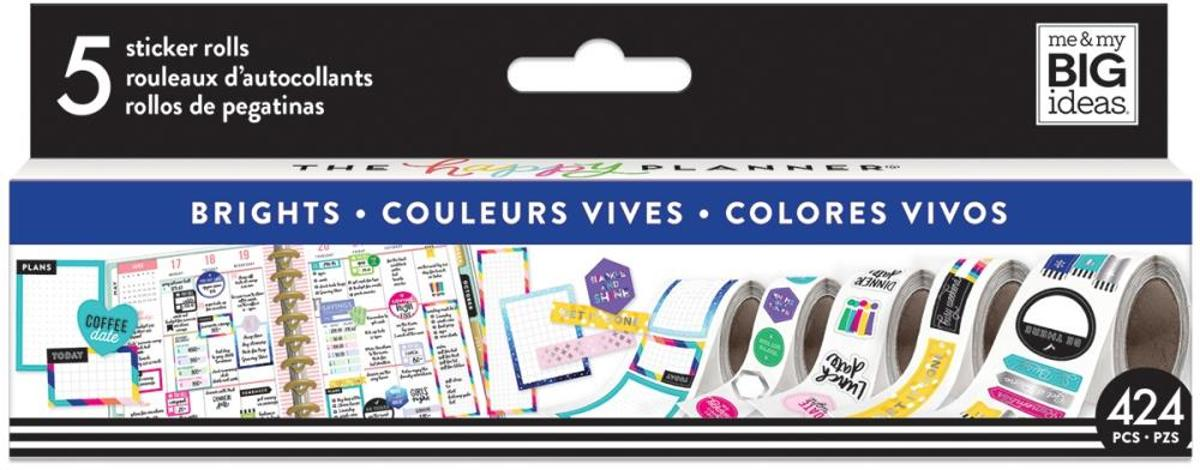 Me and My Big Ideas - Happy Planner Sticker Roll -  Brights - 424Stuks