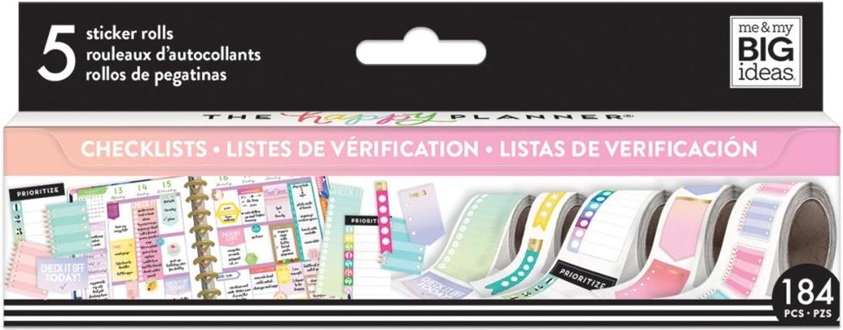 Me and My Big Ideas - Happy Planner Sticker Roll - Checklists - 184 stuks