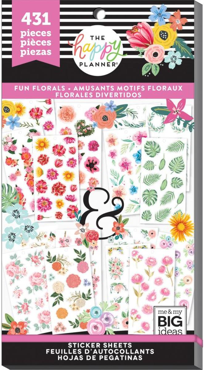 Me and My Big Ideas - Happy Planner Sticker Value Pack - Fun Florals - 431Pieces