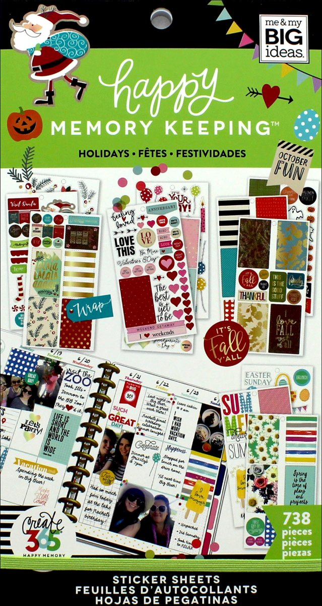 Me and My Big Ideas -  Happy Planner Sticker Value Pack - Holidays - 738Pieces