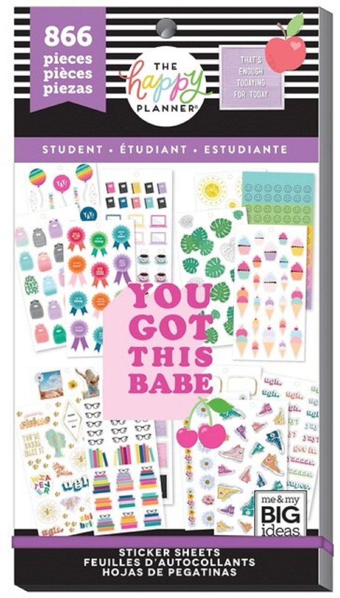 Me and My Big Ideas - Happy Planner Sticker Value Pack -Classic - Student - 866stuks
