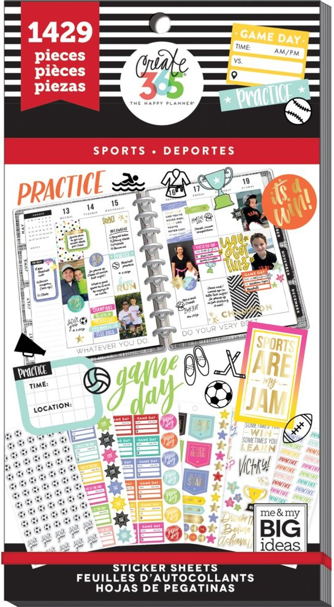 Me and My Big Ideas - Happy Planner Value Pack - Sports - 1429 Pieces