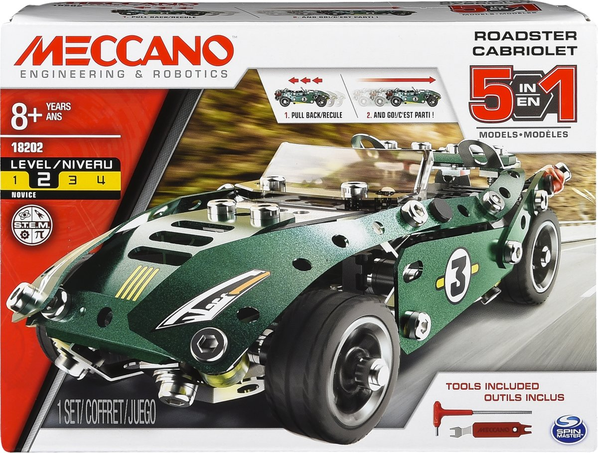Meccano 5 Model Set - Roadster