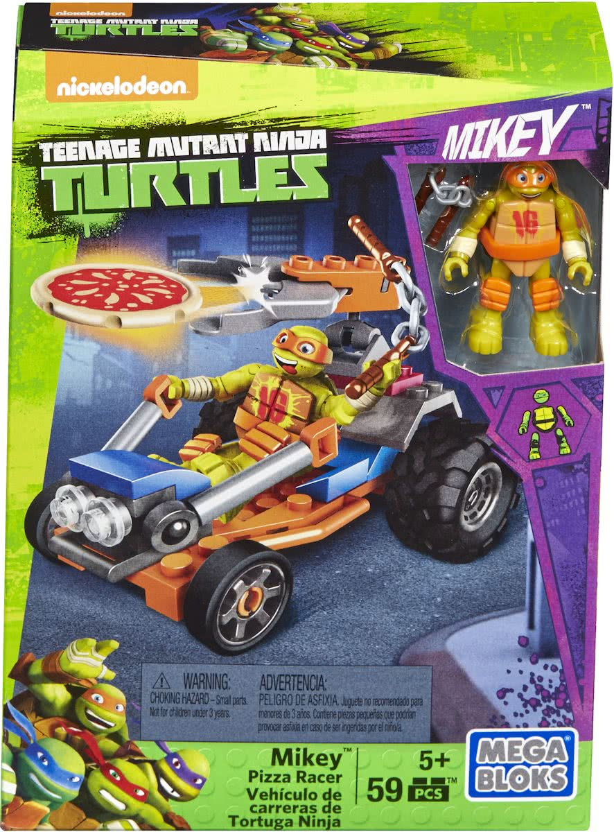 Mega Bloks - Teenage Mutant Ninja Turtle - JR. Mikey Pizza Racer - Constructiespeelgoed