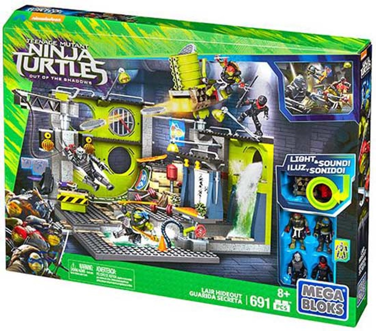 Mega Bloks - Teenage Mutant Ninja Turtles: Out of the Shadows Lair Hideout