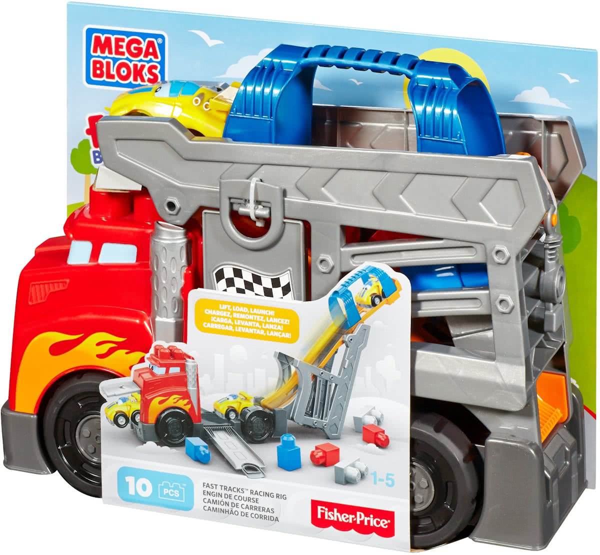 Mega Bloks -First Builders Smash n Crash Rig - Constructiespeelgoed