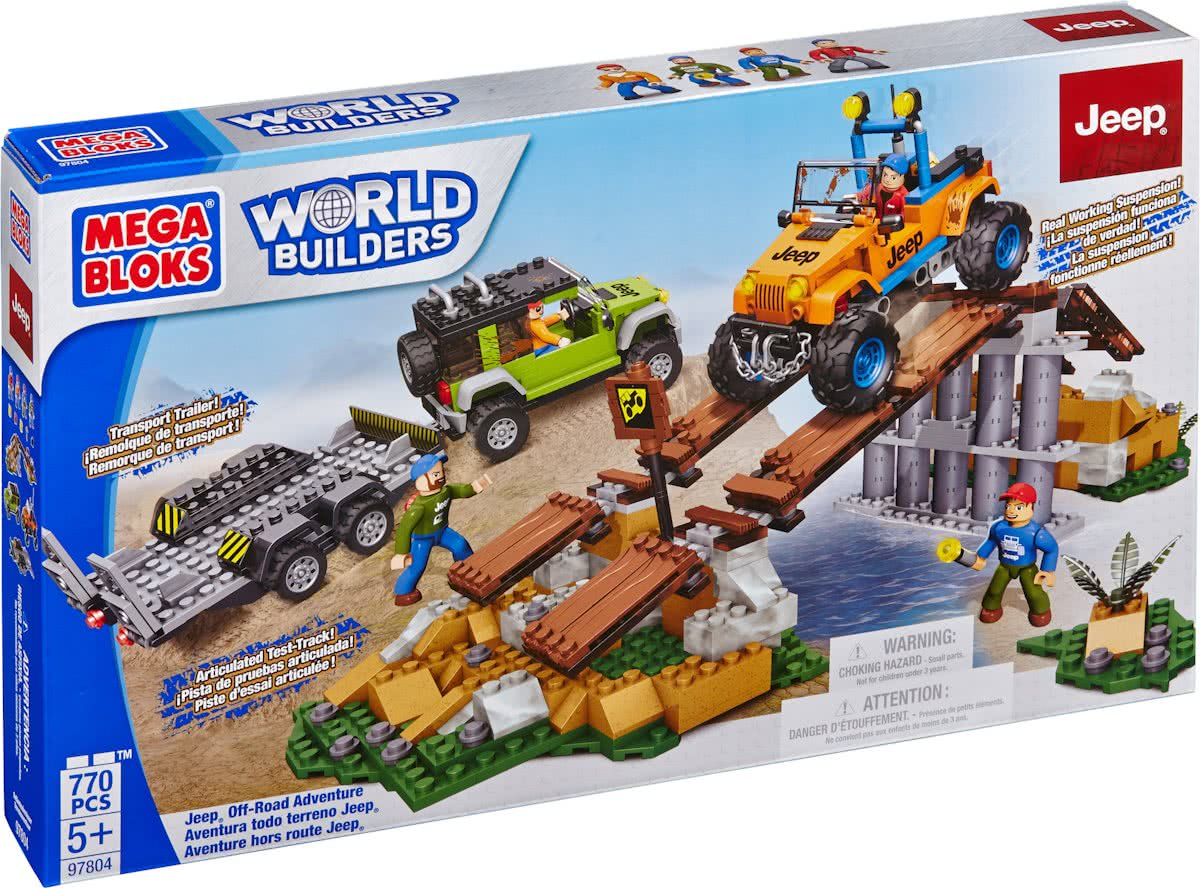 Mega Bloks Jeep Rock Crawiling Adventure - Constructiespeelgoed