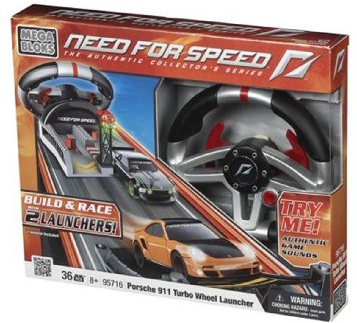 Mega Bloks Need For Speed Porsche Turbo Wheel - Constructiespeelgoed