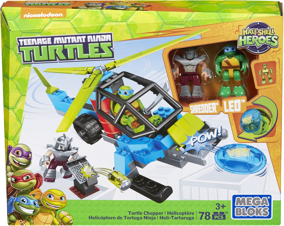 Mega Bloks Teenage Mutant Ninja Turtle JR. Turtle Chopper - Constructiespeelgoed