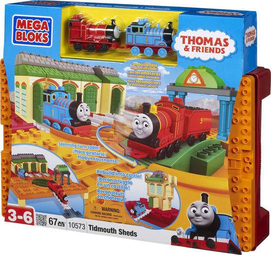 Mega Bloks Thomas de Trein All Aboard at Tidmouth Sheds