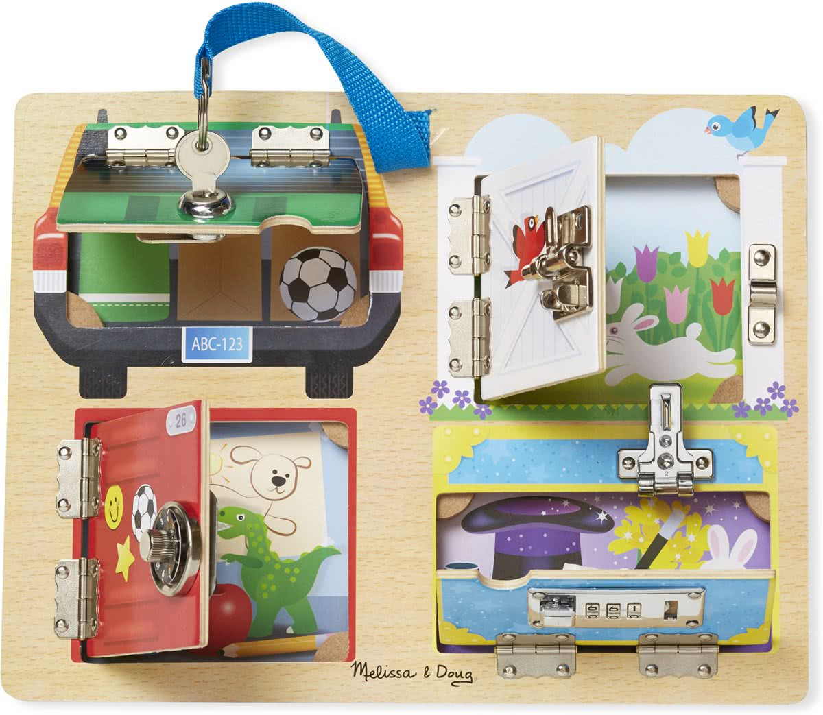 Melissa & Doug - Lock and Latch Board