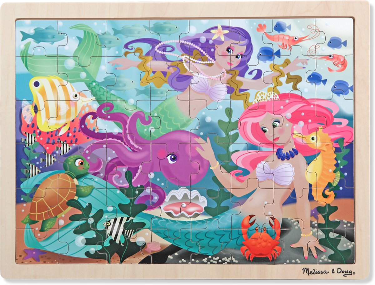 Melissa & Doug - Mermaid Fantasea Legpuzzel - 48pc