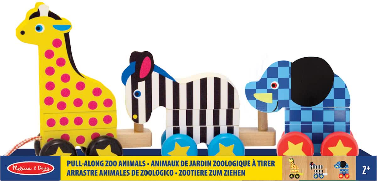 Melissa & Doug - Pull-Along Zoo Animals