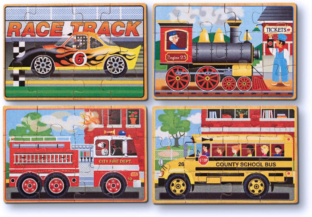 Melissa & Doug - Vehicle Puzzles in a Box