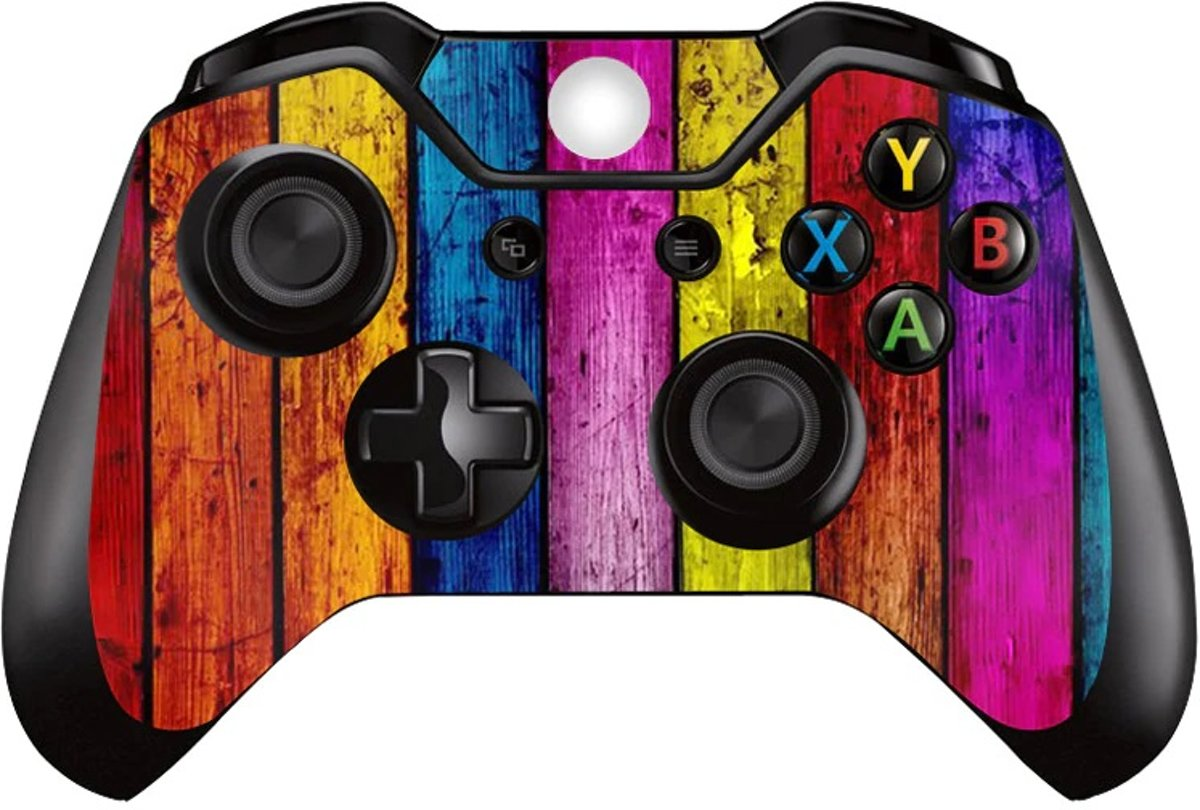 2 Xbox Controller Sticker | Xbox Controller Skin | Colored Wood | Xbox Controller Gekleurd Hout Skin Sticker | 2 Controller Skins