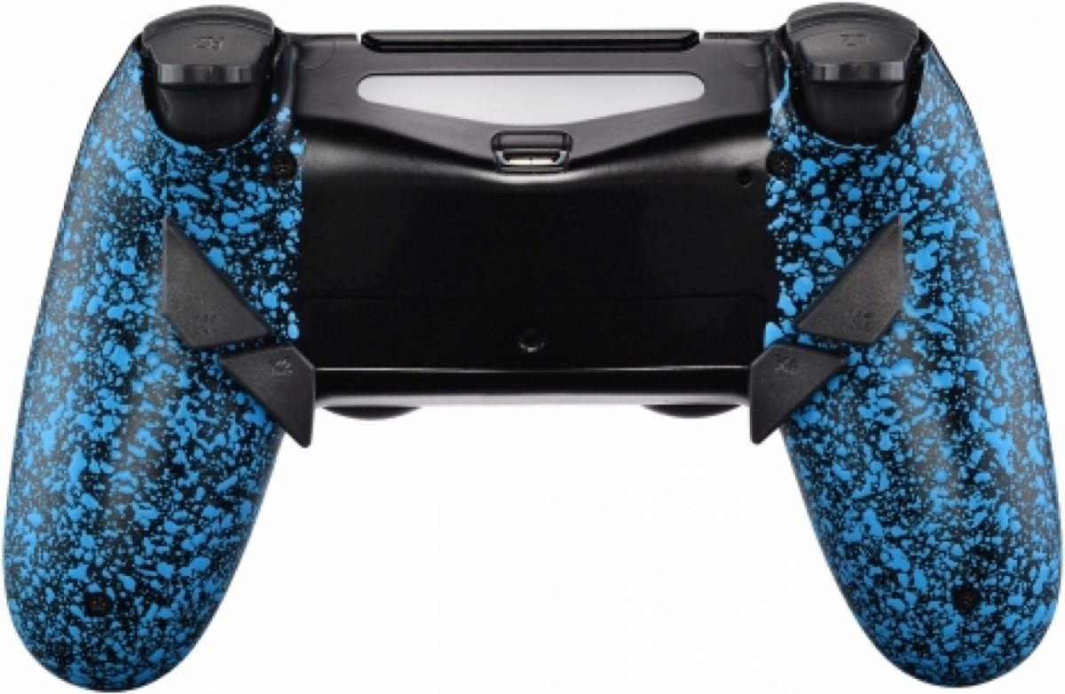3D Grip Blauw - Custom PlayStation PS4 PRO eSports Wireless Dualshock 4 V2   / SCUF Remap MOD
