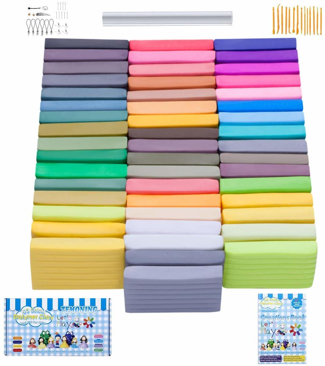 50 kleuren Forn Bake Colored Clay