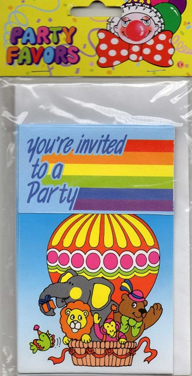 6 maal uitnodigingen - youre invited to a party -