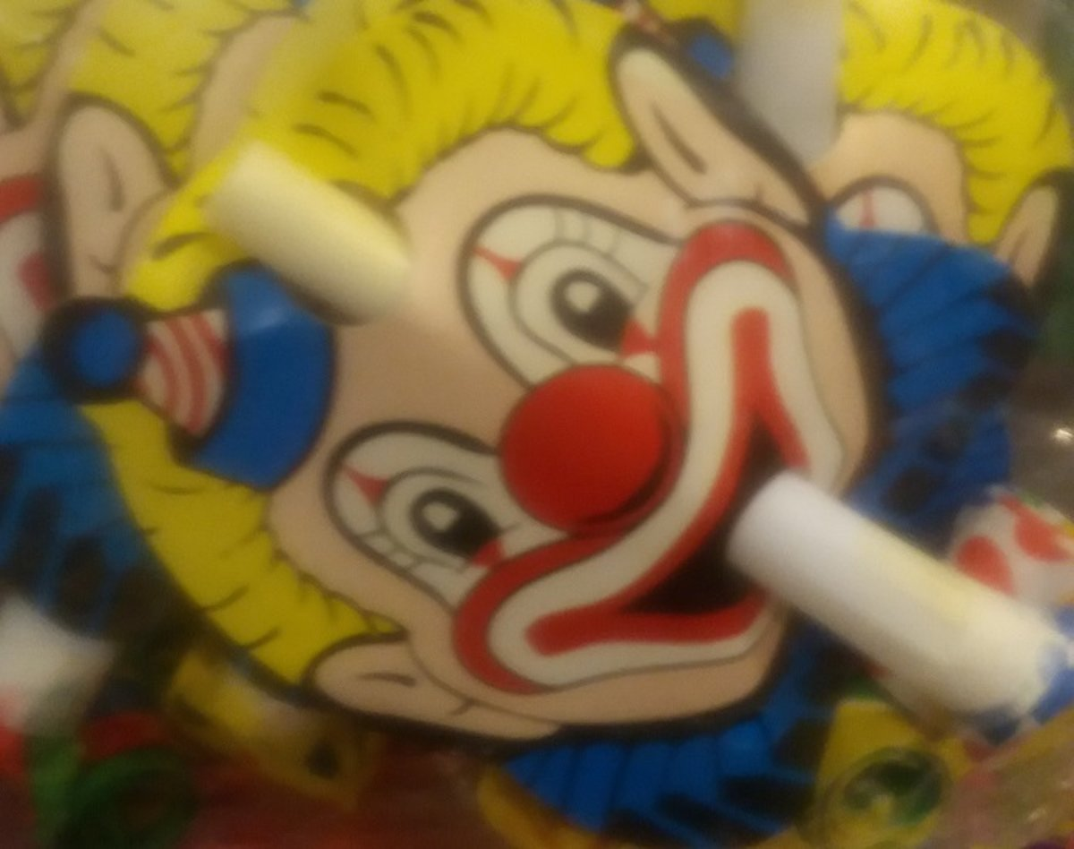 6 x roltongen - clown -