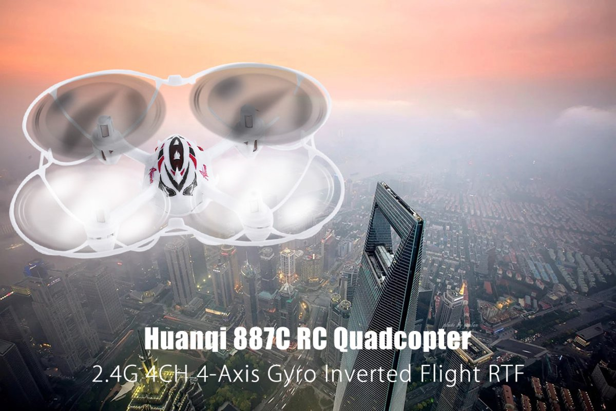 887C Reverse Flight  4x Gyro RTF RC Quadcopter Drone - 50 meter afstand