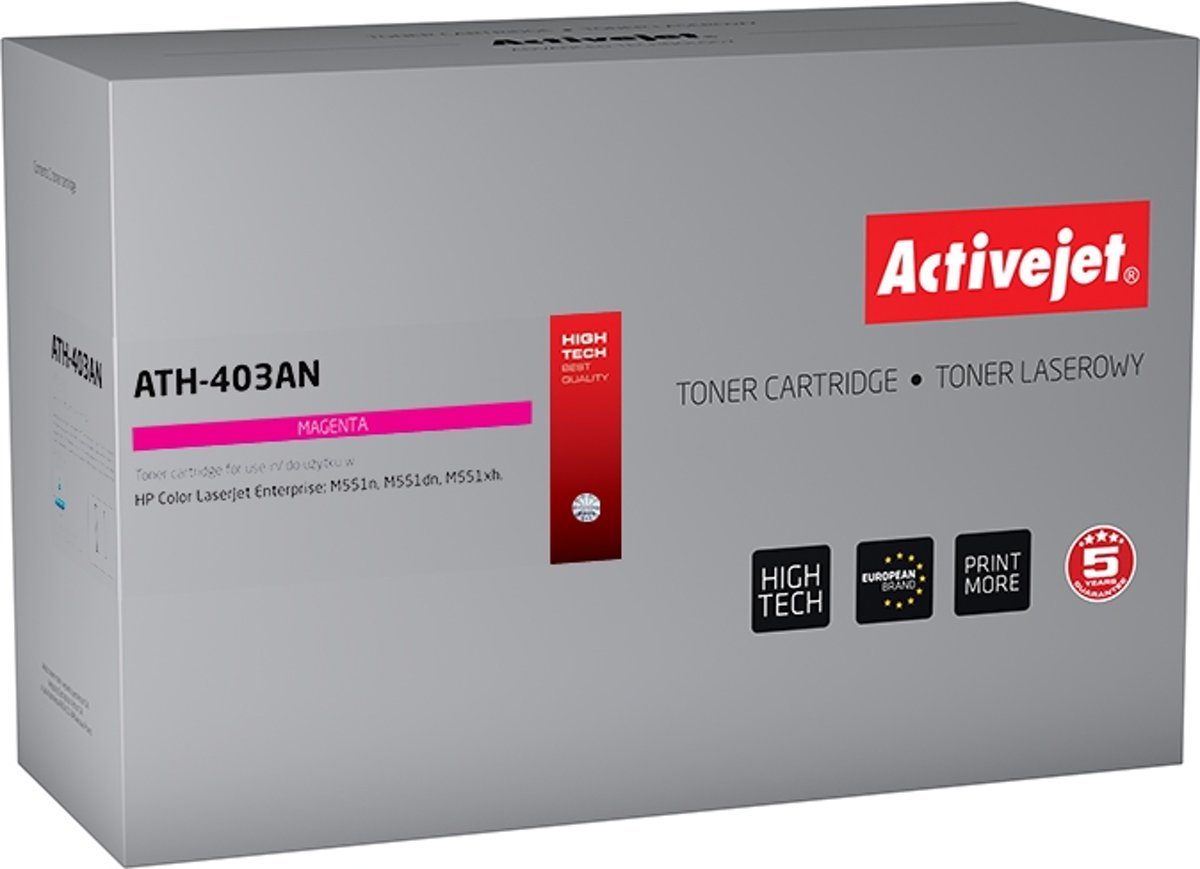 ActiveJet toner for HP 507A CE403A rem ATH-403AN