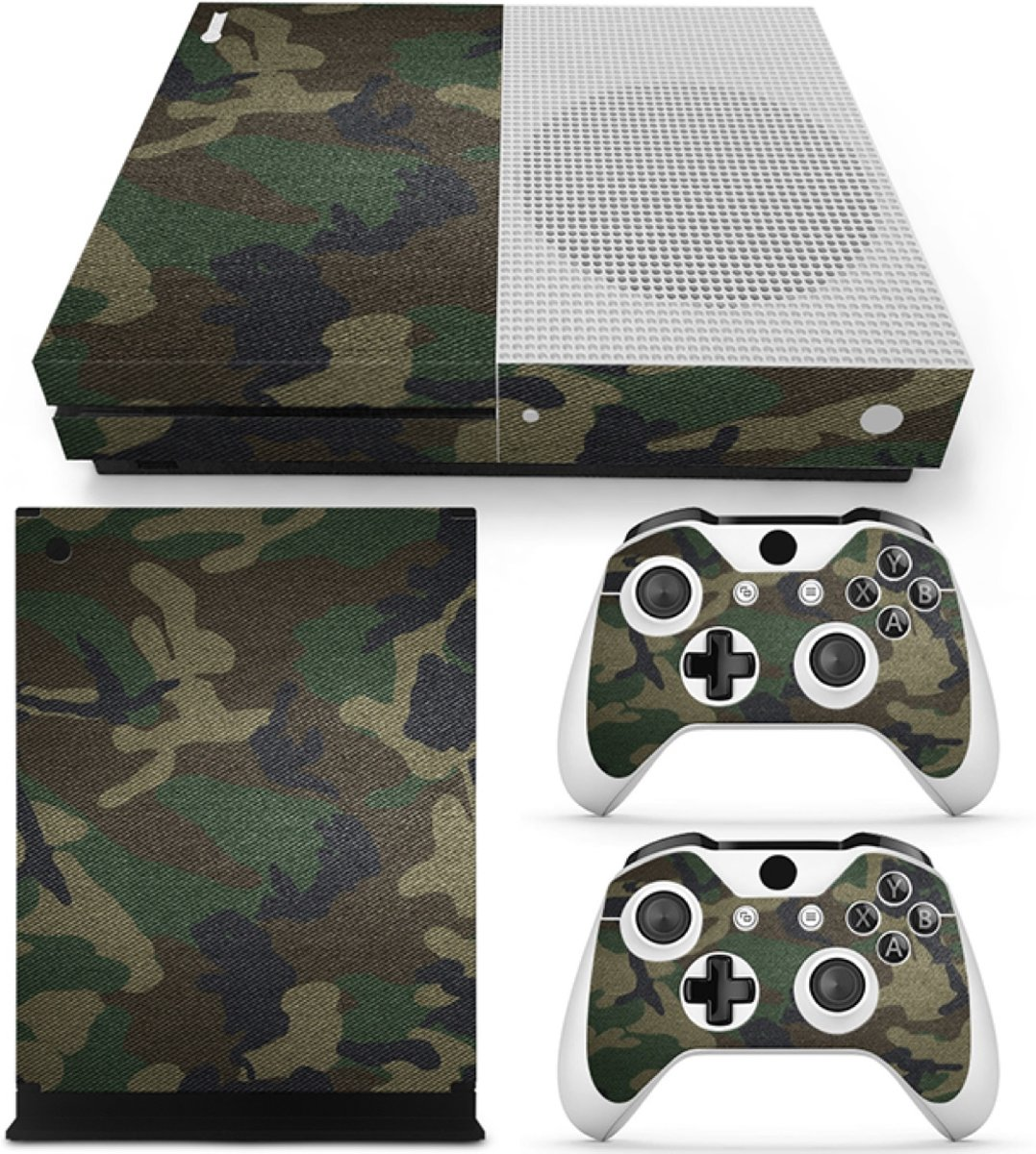 Army Camo - Xbox One S Console Skins Stickers