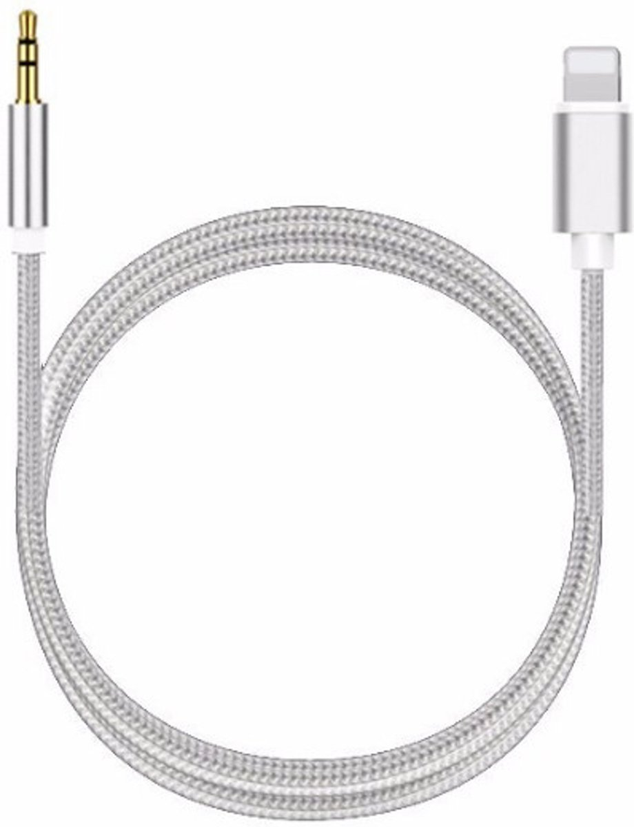Aux Kabel - Auto - iPhone Lightning - Headphone Jack - 3.5 mm - 1 Meter