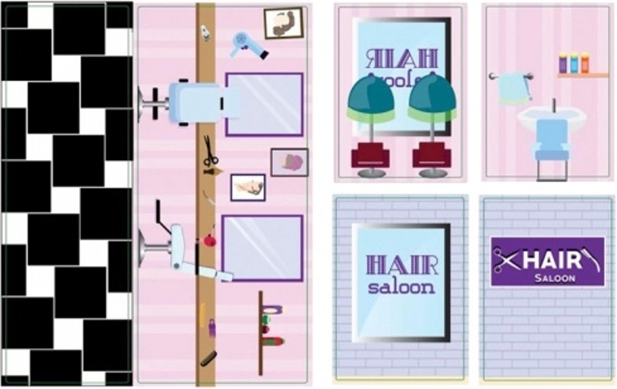 BanBao Iwallz - Hair saloon sticker