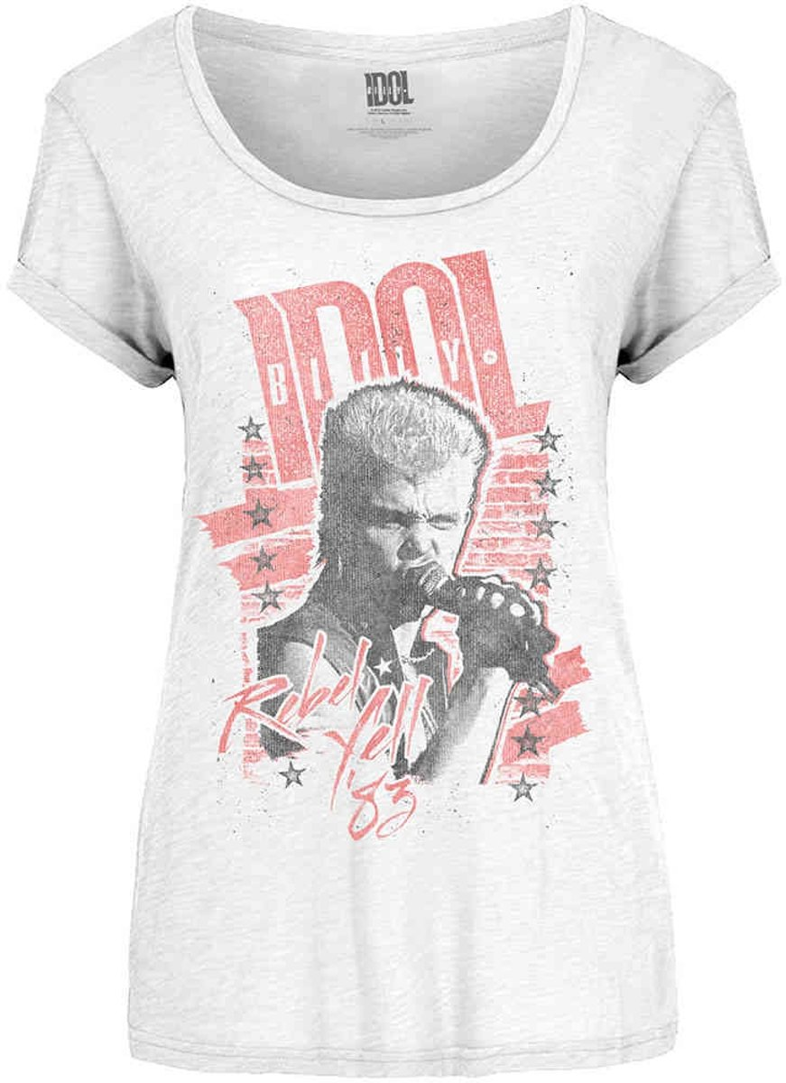 Billy Idol - Rebel Yell dames T-shirt wit - L