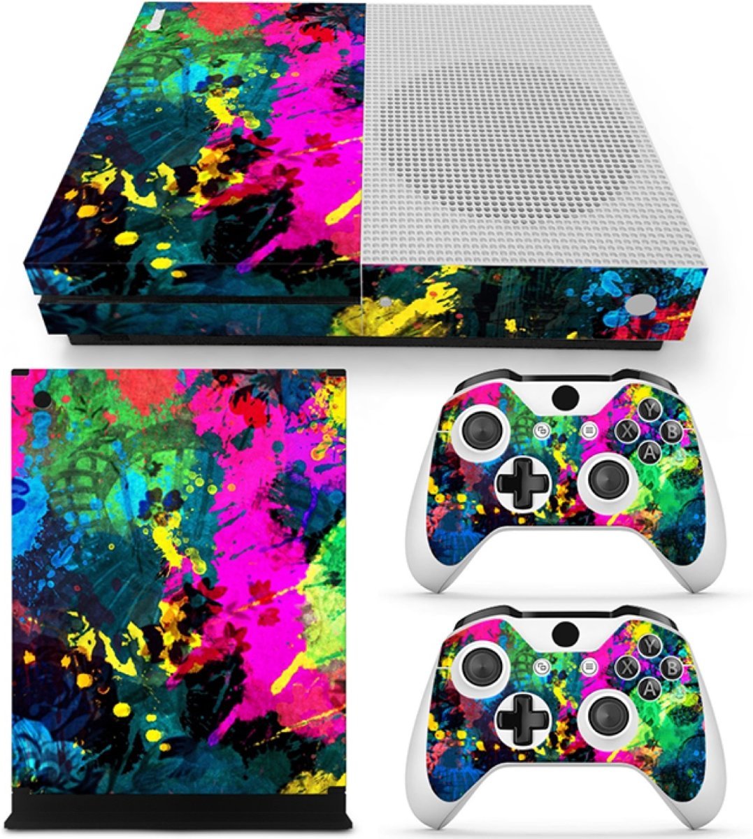 Color Splash - Xbox One S Console Skins Stickers