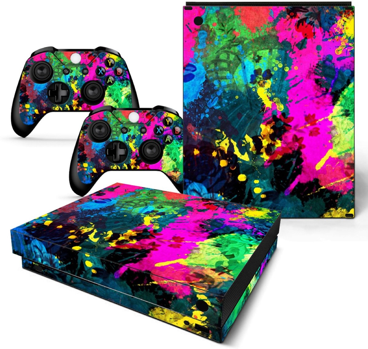 Color Splash - Xbox One X Console Skins Stickers