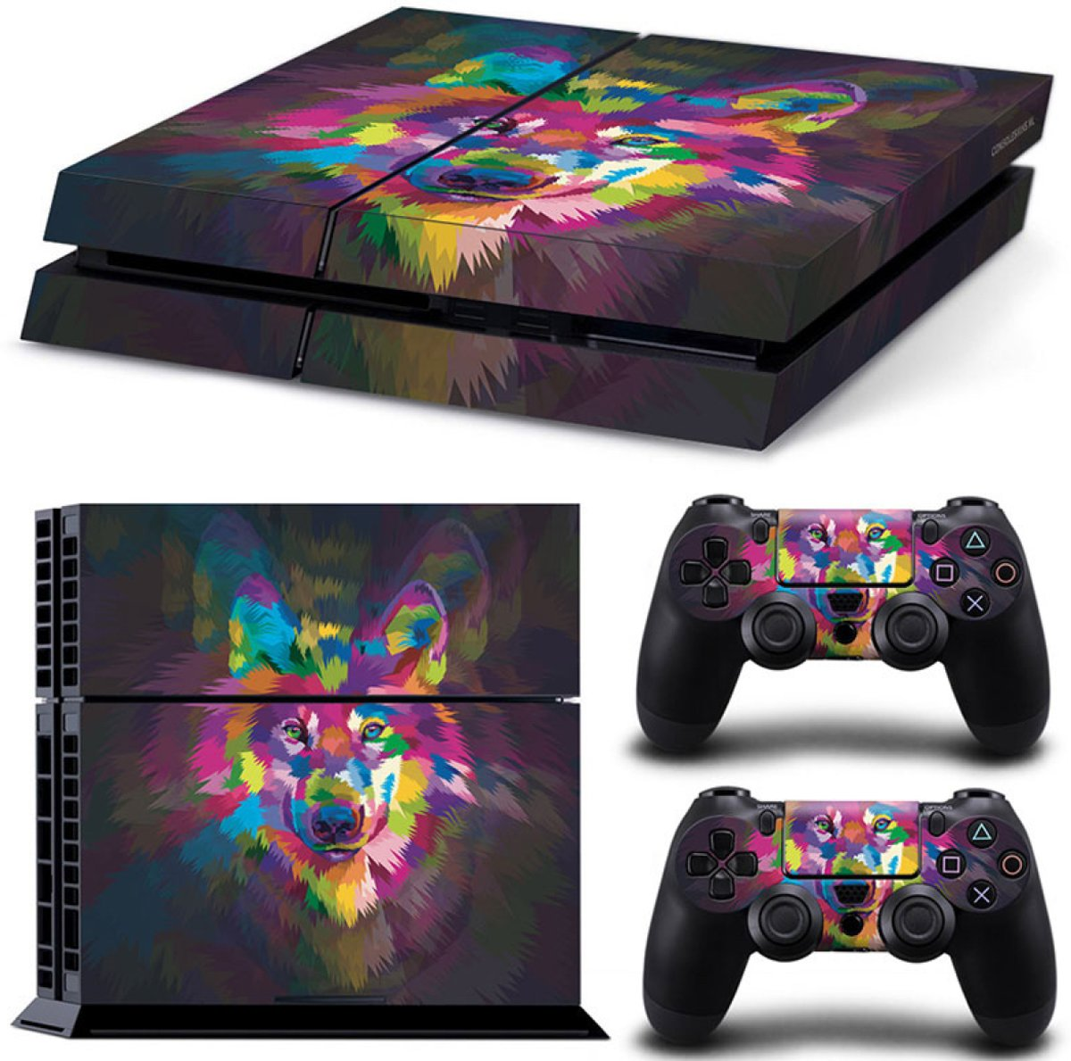 Color Wolf - PS4 Console Skins PlayStation Stickers