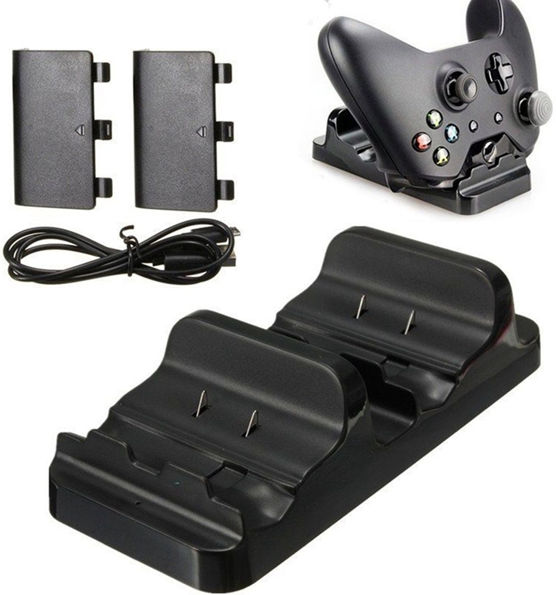 Controller Dock Charger Oplaad Station Voor Xbox One - USB Docking Op Laadkabel - Laadstation