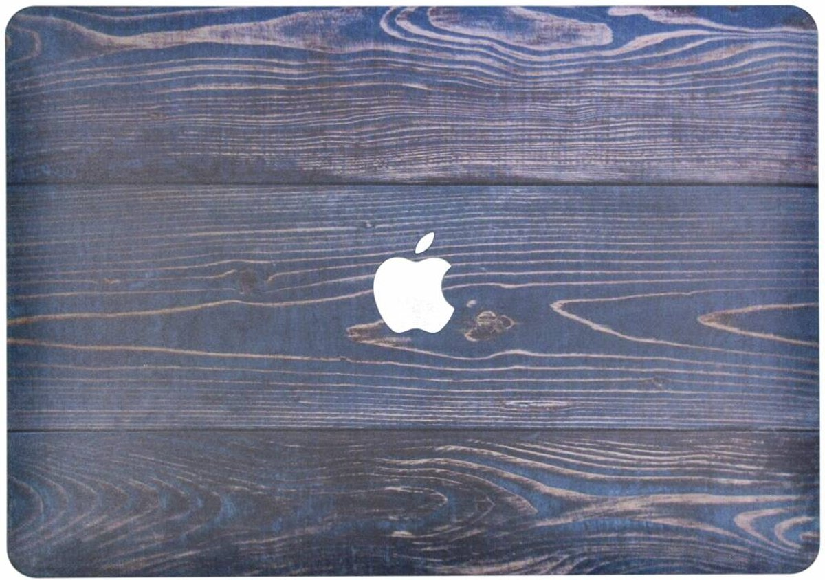 Design Hardshell Cover hoesje voor MacBook Air 13.3 inch (2018) - Hout Blauw