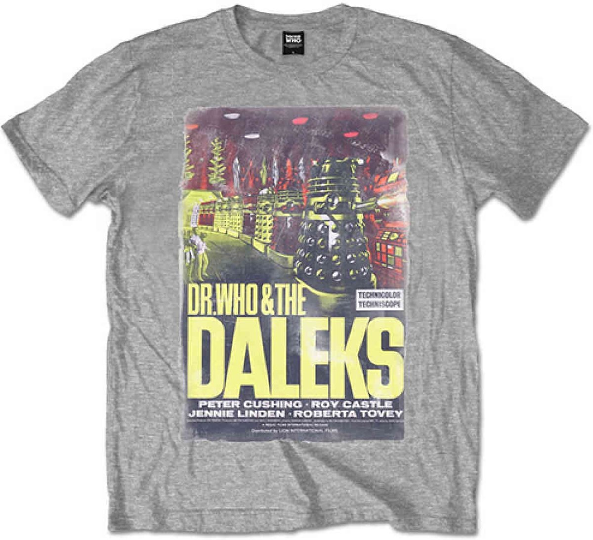 Dr Who - Daleks heren unisex T-shirt grijs - XL